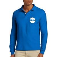 Camisa Polo manga longa em malha PV