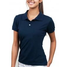 Camiseta polo piquet feminina